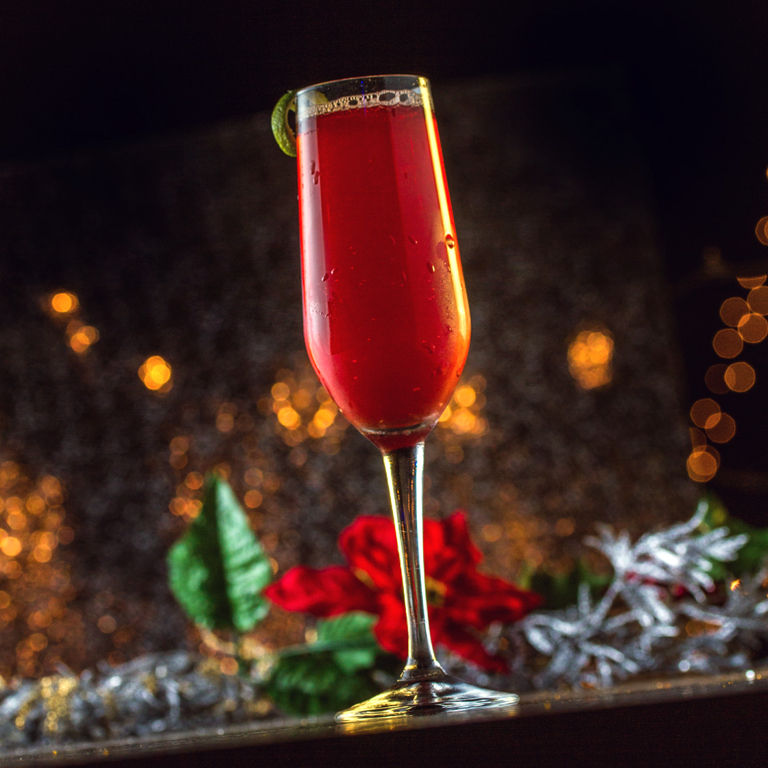 Poinsettia Cocktail - Sparkling Holiday Drink Recipe