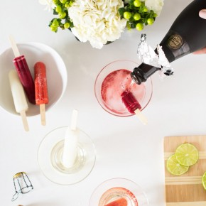 Add 4 oz Freixenet Cava to a berry-flavored popsicle.