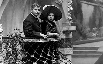 Freixenet founders, Pedro & Dolores Ferrer.